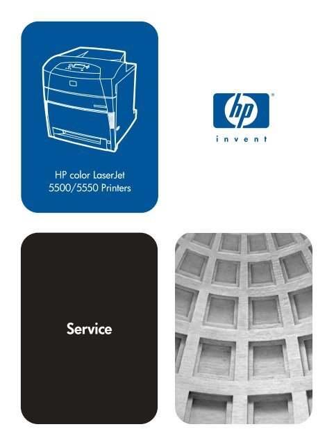 Hp Color Laserjet 5500 5550 Printers Service Manual Printer Repair