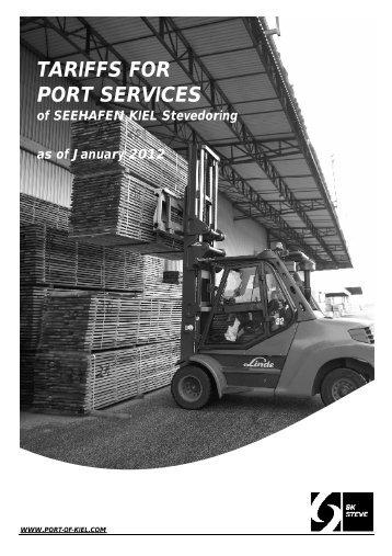 Umschlagstarif 2012 - Englische Übersetzung_NEU - Port of Kiel