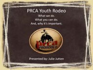 2012 CNFR PRCA Panel Discussion - Professional Rodeo ...