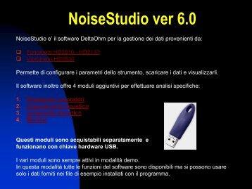 Presentazione del software NoiseStudio - Delta Ohm S.r.l.