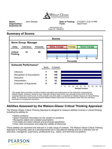 watson glaser critical thinking appraisal uk practice test