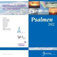 Psalmen 2012 - Evangelisch-lutherischer Stadtkirchenverband ...