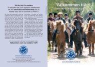 Skriv ut Layout 1 - SIF - Svenska Islandshästförbundet