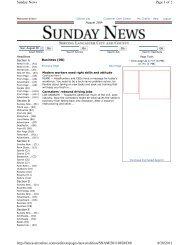 Page 1 of 2 Sunday News 8/28/2011 http://lancasteronline.com ...