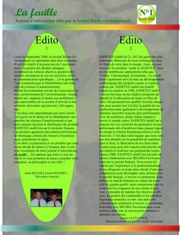 La feuille Edito Edito