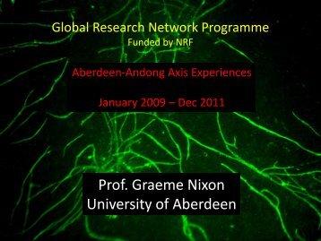 Prof. Graeme Nixon University of Aberdeen - Access4.eu