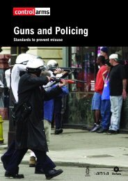 Guns and Policing - Standards to prevent misuse - seesac