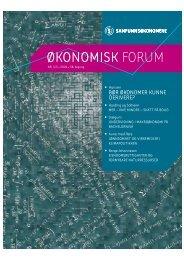 Økonomisk forum nr 4/5 2004. - Samfunnsøkonomene