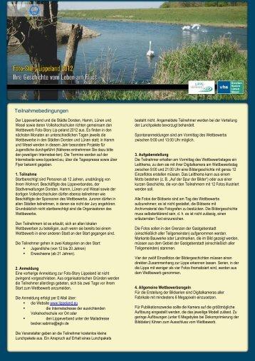 Teilnahmebedingungen - lippeland.eu