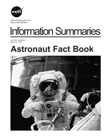 Astronaut Fact Book - ER - NASA