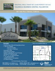 valencia business center, fullerton - Voit Real Estate Services