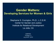 Gender Matters: Developing Services for Women & Girls