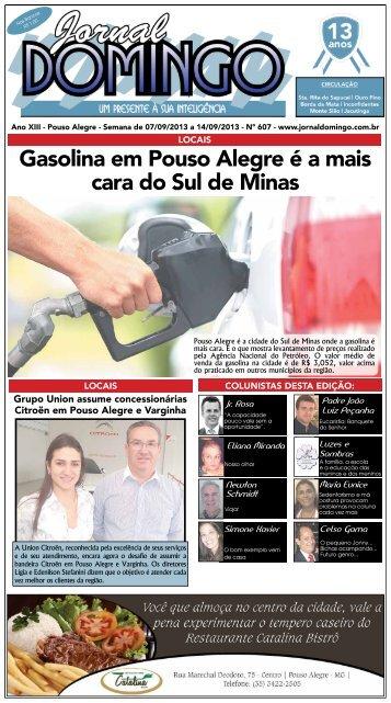 1 Gasolina em Pouso Alegre é a mais cara do Sul ... - Jornal Domingo