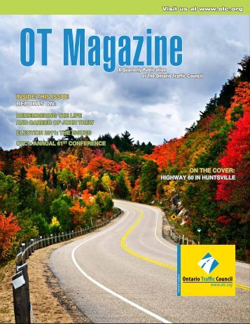 Fall Issue - Ontario Traffic Conference