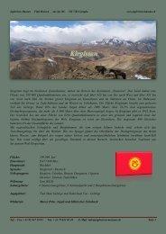 Kirgistan liegt im Nordosten Zentralasiens, mitten im Herzen des ...