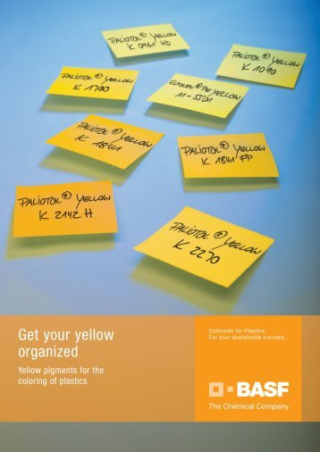 Get your yellow organized