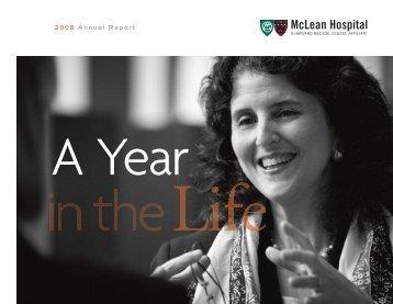 Download Annual Report 2008 - McLean Hospital