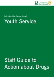 Staff Guide to Action about Drugs - Leicestershire County Council