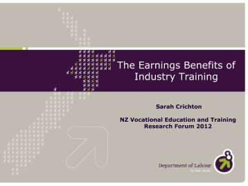 Session 9B - Sarah Crichton - The earnings benefits of - Industry ...
