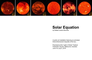 Solar Equation - Rafael Lozano-Hemmer