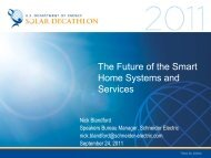 The Future of the Smart Home Systems and ... - Solar Decathlon