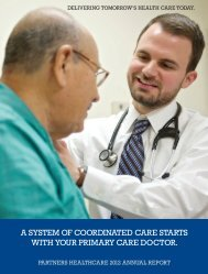 Read the 2012 Annual Report. - Partners HealthCare
