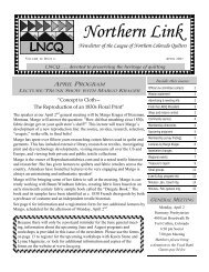 April 2007 Newsletter - League of Northern Colorado Quilters