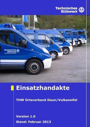 Diensthabende Führungskraft (24h) - THW OV Daun-Vulkaneifel