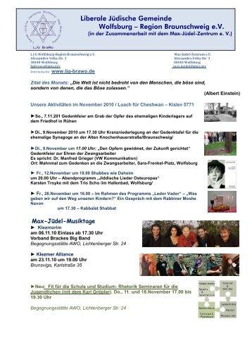 Liberale Jüdische Gemeinde Wolfsburg – Region Braunschweig e.V.