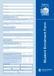 Student Enrolment Form - Brighton Secondary School