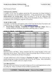 WAIKANAE SCHOOL NEWSLETTER 9 AUGUST 2012 12 / 24 Dear ...