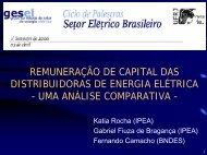 remuneração de capital das distribuidoras de energia elétrica - Nuca