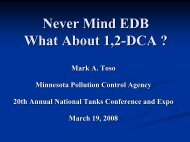 Never Mind EDB What About 1,2-DCA ? - NEIWPCC