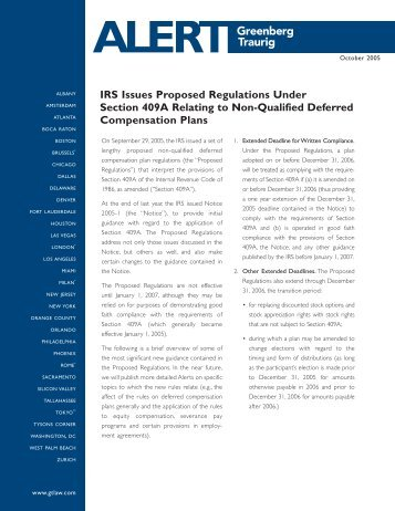 Proposed Regulations Under Code Section Ice Miller