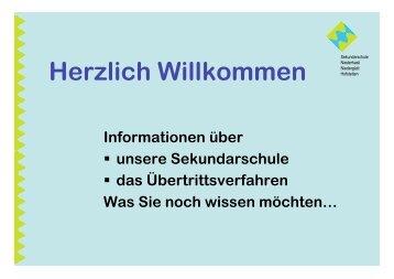 Herzlich Willkommen - Sekundarschule Niederhasli, Niederglatt ...
