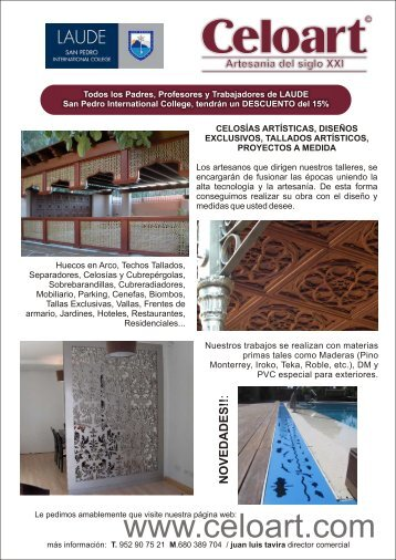 MONTAJE FINAL CELOART ingles - Laude San Pedro International ...