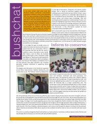 Inform to conserve - Nature Conservation Foundation