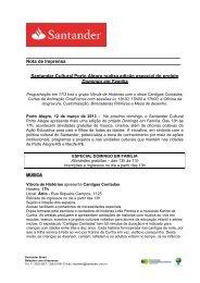 Santander Cultural Porto Alegre realiza edição especial do projeto ...