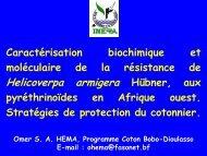 Caractérisation biochimique et moléculaire de la ... - Abrapa