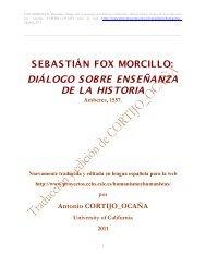 DIÁLOGO SOBRE ENSEÑANZA DE LA HISTORIA - Consejo ...