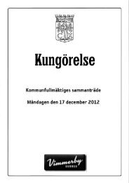 Kommunfullmäktiges sammanträde Måndagen den 17 december ...