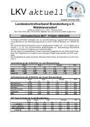 Jahresabschluss MLP - Prüfjahr 2004/2005 - Landeskontrollverband ...