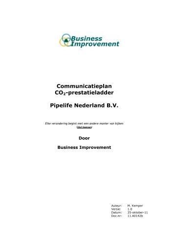 Communicatieplan CO2-prestatieladder Pipelife Nederland B.V.