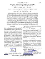 Emulsion Polymerization of Styrene Using the Homopolymer of a ...