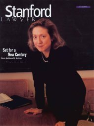 Fall 1999 – Issue 56 - Stanford Lawyer - Stanford University