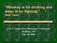 whiskey is for drinking and water is for fighting. - Department of ...