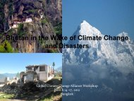 Bhutan in the Wake of Climate Change and Disasters