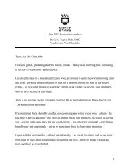 July 2004 Convocation Address - UVic.ca