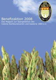 Spargelheft aus dem Jahr 2008 - Colonia Kochkunstverein und ...
