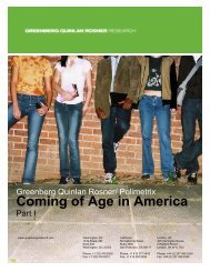 Coming of Age in America - Greenberg Quinlan Rosner